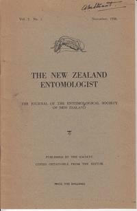 The New Zealand Entomologist.  The Journal of the Entomological Society of New Zealand Inc.  Vol....