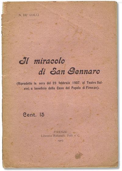 Firenze: Libreria Rafanelli Polli, 1907. First Edition. Paperback. An attack on the Church's continu...