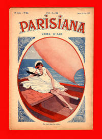 image of Parisiana - Jeudi 16 Juin 1932. Art Deco/Nouveau, pin-up, light erotica; cover art by Rene Giffey; rear cover art by G. Conrad