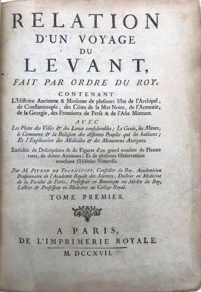 Paris:: de l'Imprimerie Royale, 1717., 1717. Two volumes. 4to. 250 x 185mm. Collection: a-b4, c1 A-3...