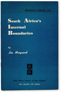 image of Presidential Address, 1958: South Africa's Internal Boundaries