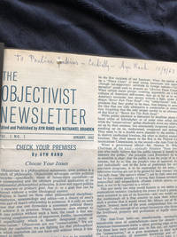 The Objectivist Newsletter  Signed by Rand  The Virtue of Selfishness; Capitalism: The Unknown Ideal
