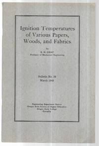Ignition Temperatures of Various Papers, Woods, and Fabrics