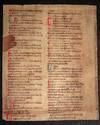 C13th fragment of an index of a Canon Law