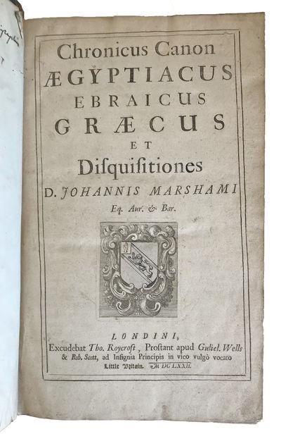 London:: Tho. Roycroft, 1672., 1672. Small folio. , 424, 427-438, 437-626, , pp. . Title-vignette of...