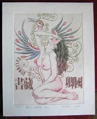 image of Ex-Libris chinois. Nu devant l'oiseau