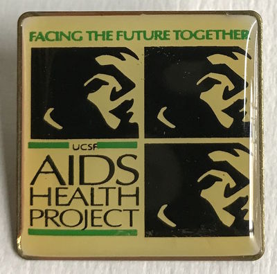 San Francisco: the Project, n.d.. 1.25 inch square pin, very good.