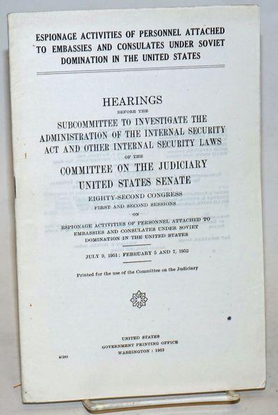 Washington, D. C.: GPO, 1952. iv, 52p., staplebound booklet, light handling wear. Largely about Czec...