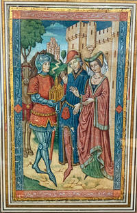 Illuminated Miniature of an Encounter between a Lord, a Lady, and a Knight