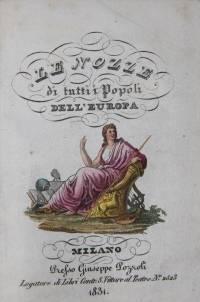 Milano: Presso Giuseppe Pozzoli, 1831. First edition. Romantic cartonnage binding, with slipcase. Ve...
