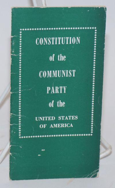New York: New Century Publishers, 1957. 24p., staplebound booklet, mild handling wear, 3.25x6.25 inc...