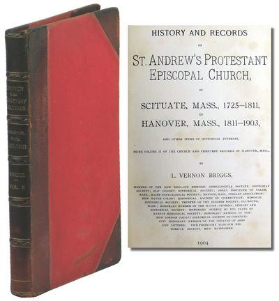 Boston: Press of William Spooner, 1905. Hardcover. Very good. ix, 181pp+ index. Red half morocco ove...