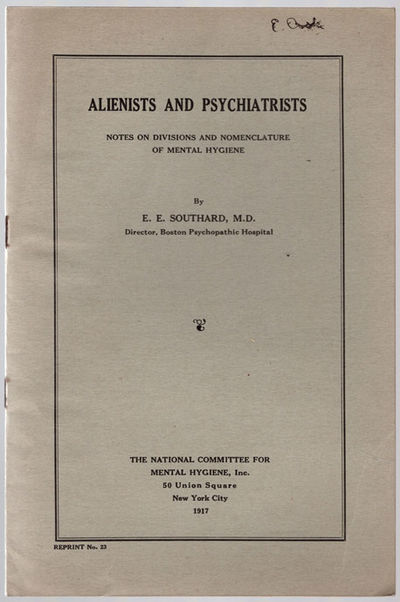 New York: The National Committee for Mental Hygiene, 1917. 8vo (22.8 cm, 9