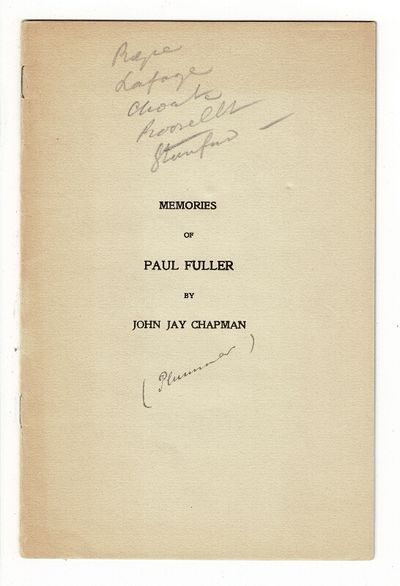; original printed sel- wrappers; pencil annotations on upper cover, light toning, very good. Paul F...