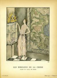 Les Bibelots de la Chine, Robe du soir, de Beer; Print from the Gazette du Bon Ton
