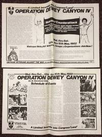 A limited incursion into Congress 'Land': Operation Dewey Canyon IV [double-sided broadside] by Vietnam Veterans Against the War - 1982 - from Bolerium Books Inc., ABAA/ILAB and Biblio.com