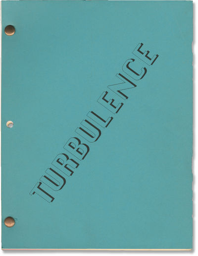 Los Angeles: Turbulence Productions, 1996. Revised Fourth Draft script for the 1997 film. After both...