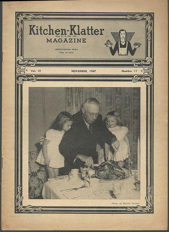 KITCHEN KLATTER MAGAZINE NOVEMBER 1947, Driftmier, Leanna Field