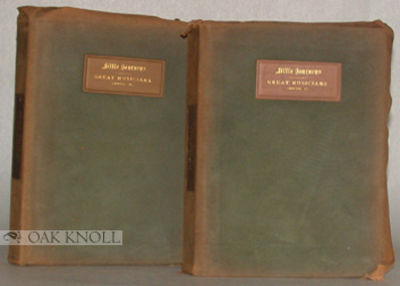 East Aurora, NY: The Roycrofters, 1901. suede covers, leather spine and cover labels, top-edges gilt...