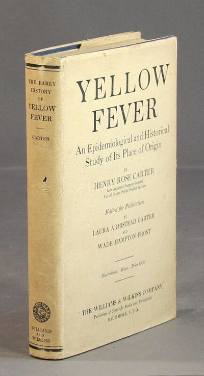 Baltimore: Williams & Wilkins Co, 1931. First edition, 8vo, pp. xii, 308, ; fine copy in a very good...