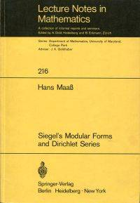 Siegel's Modular Forms and Dirichlet Series.