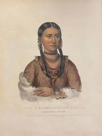 [NATIVE AMERICAN PORTRAIT]. Hayne Hudjihini Eagle of Delight. Hand-colored lithograph from a folio edition of McKenney and Hall's Indian Tribes of North America