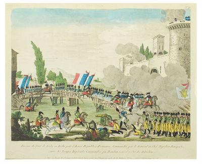 "Paris: chez Basset... . Broadside 13 1/4 x 16 5/8"", hand-colored engraving 11 1/4 x 15 1/2"", bli..."