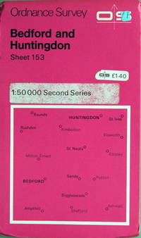 1:50,000 Landranger series: Bedford and Huntingdon by Ordnance Survey - 1:50,000 Second Series sheet 153 - 1979 - from Acanthophyllum Books and Biblio.com