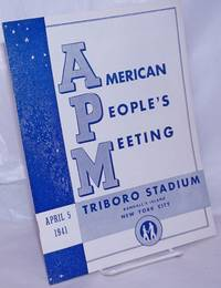image of American People's Meeting. April 5, 1941, Triboro Stadium, Randall's Island, New York City