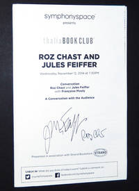 Program for A Conversation with Roz Chast and Jules Feiffer, SIGNED