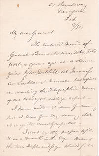 image of AUTOGRAPH LETTER TO GENERAL HORATIO WRIGHT SIGNED BY AMERICAN LAWYER SIMON STEVENS.
