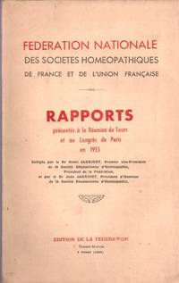 Rapports présentés à la Réunion de Tours et au Congrès de...