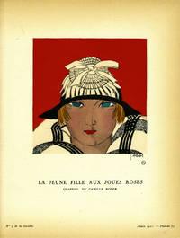 La Jeune Fille aux Joues Roses, Chapeau, de Camille Roger; Print from the Gazette du Bon Ton