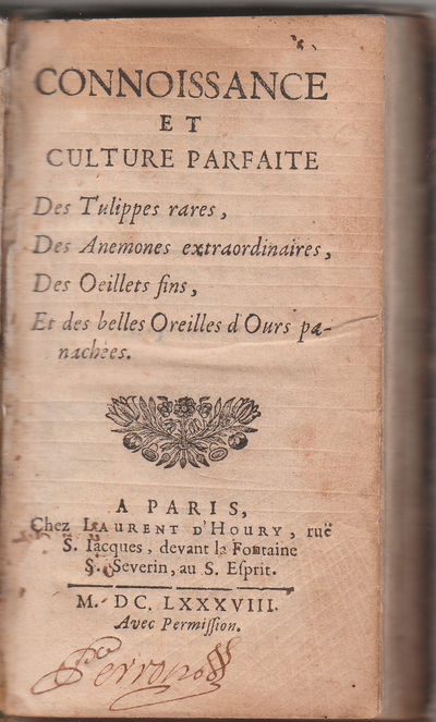 Paris: L D`Houry, 1688. First Edition.. Full contemporary calf.. A very good copy; binding somewhat ...