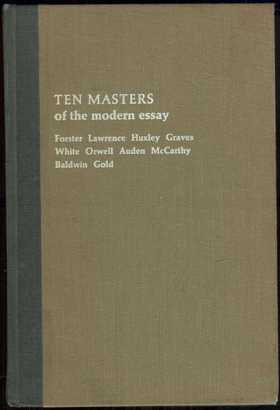 TEN MASTERS OF THE MODERN ESSAY, Davis, Robert editor