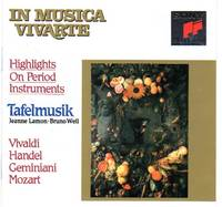 """image of Tafelmusik: """"In Musica Vivarte"""" - Highlights on Period Instruments [COMPACT DISC]"""