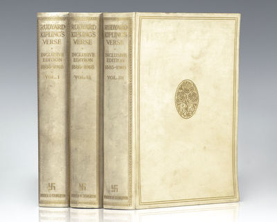 Hodder and Stoughton, Ltd: London, 1919. First edition of the collection of Kipling's poetry. Octavo...