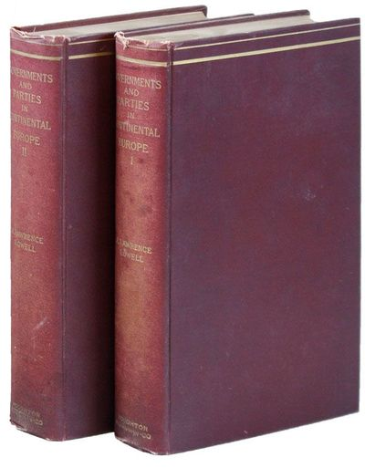 Boston: Houghton Mifflin, 1896. First Edition. Two octavo volumes. Original maroon cloth, lettered i...