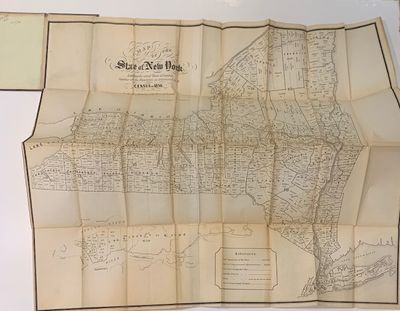 Albany: Alex Robertson, 1850. Case map. Lithograph. 27 x 30.5 inches. Impressive large graphic map p...