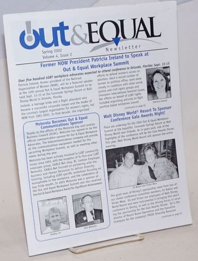 San Francisco: Out & Equal Workplace Advocates, 2002. 6p. includes covers, 8.5x11 inches, articles, ...