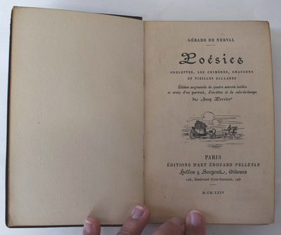 Paris: Edouard Pelletan, 1924. 177/1850. Leather bound. VG internally but with some wear to outer sp...