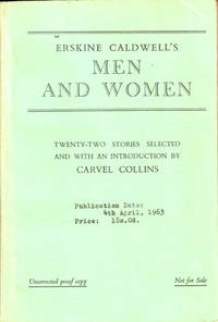image of Men and Women [Uncorrected Proof of the British Edition]