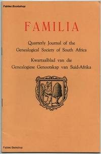 FAMILIA. 1974 No.4 by  C. (Ed) Pama - Paperback - from Fables Bookshop and Biblio.com