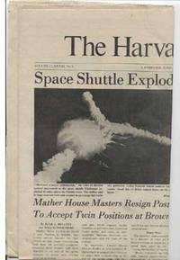 Harvard Crimson, Jan. 29, 1986, Challenger Explosion Issue