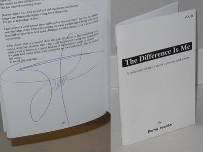 : the author, 2014. Paperback. 80p., staple-bound wraps, signed by the author on the last page, very...