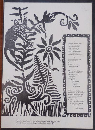 Pleasant Valley, NY: Kriya Press, 1968. First edition. Paperback. Fine. Single sheet illustrated bro...