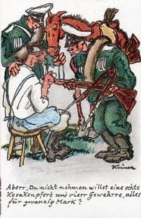 image of Vintage Artist Signed German Military Postcard