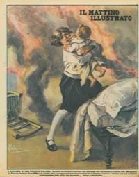 L\'eroismo di una piccola italiana. Durante un incendio, a Lizzola Alta (Bergamo) la Piccola Italiana Bona Pifferi, di tredici anni, slanciandosi tra le fiamme, riusciva a salvare una sua sorellina.