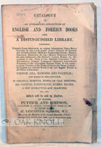 London: Puttick and Simpson, 1866. self paper wrappers. small 8vo. self paper wrappers. 68 pages. Sa...