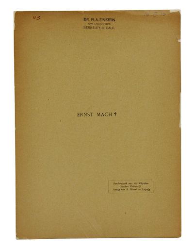 Leipzig, Germany: S. Hirzel, 1916. First separate edition. First separate edition. 4 pp. Illustrated...